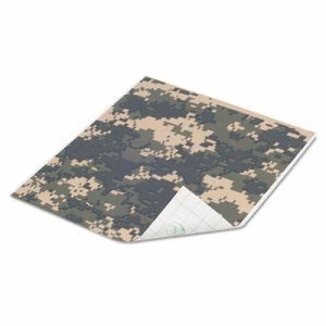 Duck Tape Sheets, Digital Camo, 6/Pack (DUC22699)