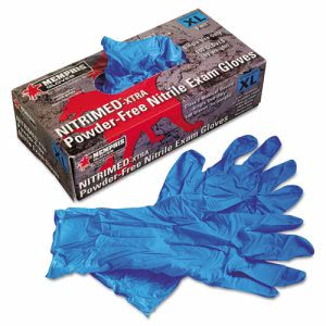 Memphis Nitri-Med Disposable Nitrile Gloves, Blue, Extra Large (MPG6012XL)