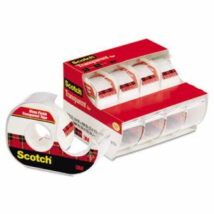 "Scotch Transparent Tape & Handheld Dispenser, 3/4"" x 850"", Clear (MMM4184)"