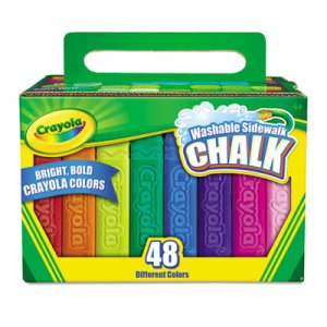Crayola Washable Sidewalk Chalk, 48 Asstd Bright Colors, 48 Sticks (CYO512048)
