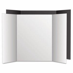 Eco Brites Too Cool Tri-Fold Poster Board, 36 x 48, Black/White, 6/PK (GEO27135)