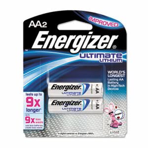 Energizer Ultimate Lithium AA Batteries, 2 Batteries (ENE L91BP2)