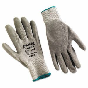Memphis FlexTuff Latex Dipped Gloves, White/Blue, X-Large (MPG9688XL)