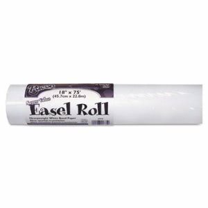 "Pacon Easel Roll, 35 lbs., 18"" x 75 ft, White, Roll (PAC4775)"