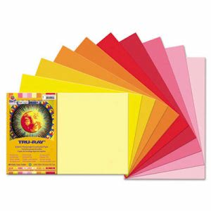 Pacon Tru-Ray Construction Paper, 12 x 18, Assorted, 25 Sheets (PAC102948)