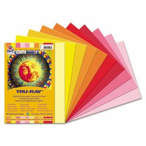 Pacon Tru-Ray Construction Paper, 9 x 12, Assorted, 50 Sheets (PAC102947)