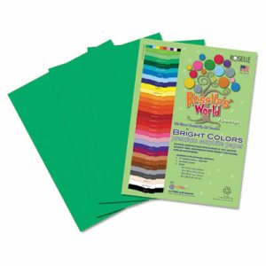 Roselle Sulphite Construction Paper, 9 x 12, Holiday Green, 50 Sheets (RLP74101)