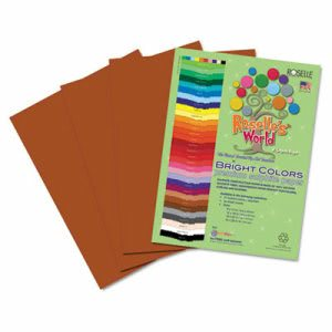 Roselle Sulphite Construction Paper, 12 x 18, Brown, 50 Sheets (RLP71302)