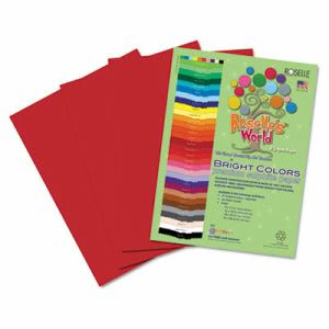 Roselle Sulphite Construction Paper, 76 lbs., Scarlet, 50 Sheets (RLP73802)
