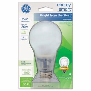 Ge Compact Fluorescent Bulb, A21, Soft White (GEL63504)