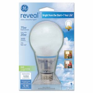 Ge Compact Fluorescent Bulb, A21, Reveal (GEL63509)