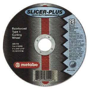 "Metabo SLICER-PLUS High-Performance Cutting Wheel, 4-1/2"" x .045 x 7/8"", Type 1, A60TX (MEB55997)"
