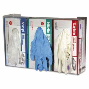 Clear Plexiglas® Three-Box Glove Dispenser, 1 Each (SAN G0805)