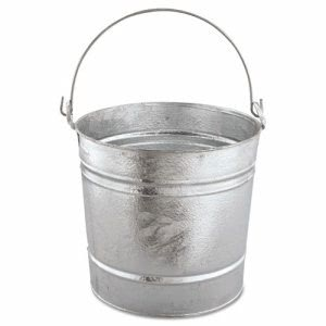 Magnolia Brush Galvanized Pail, 20qt, 12/Box (MNL20QT)