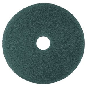 "3M Blue 15"" Floor Cleaning Pads 5300, 5 Pads (MMM08408)"