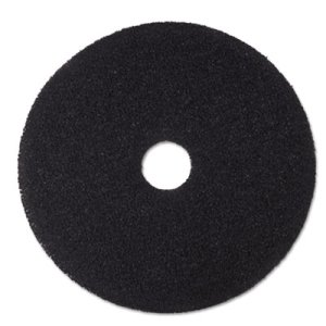 "3M Black 16"" Floor Stripping Pad 7200, Synthetic Fiber, 5 Pads (MMM08378)"