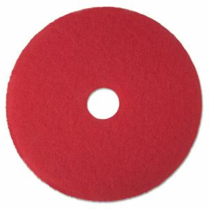 "3M Red 12"" Floor Buffer Pad 5100, 5 Pads (MCO 08387)"
