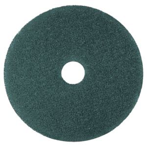 "3M Blue 16"" Floor Cleaning Pad 5300, Synthetic Fiber, 5 Pads (MMM08409)"