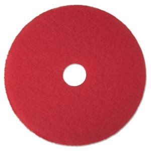 "3M Red 16"" Floor Buffing Pad 5100, Synthetic Fibers, 5 Pads (MMM08391)"