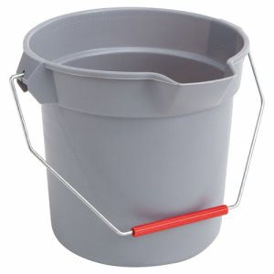 Rubbermaid 2963 Brute Round 10 Quart Bucket, Gray (RCP2963GRAY)