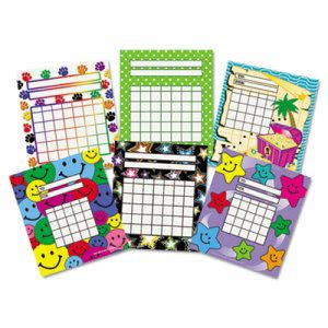 Teacher Created Individual Incentive Charts, 6 Designs, 216 Charts (TCR9028)