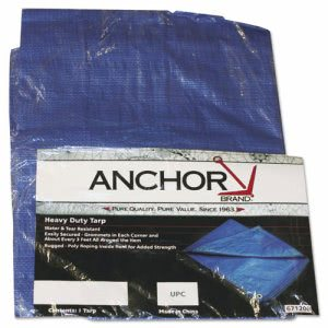 Anchor Brand Multiple Use Tarpaulin, Polyethylene, 10ft x 16ft (ANR1016)