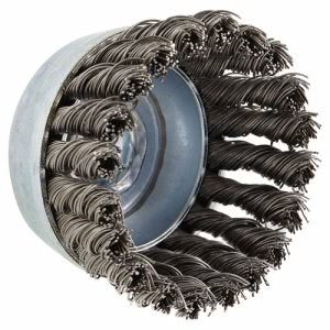 "Anderson USC80 Carbon Steel Knot Wire Cup Brush, .02 Wire, 2 3/4""dia (ANB18215)"