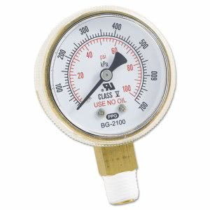 Anchor Brand Replacement Gauge, 2 x 100, Brass (ANRB2100)