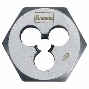 "Irwin High-Carbon Steel Fractional Hexagon Die, 12""-13, 1"" Diameter (HNS6544)"