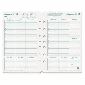 Franklincovey Original Dated Weekly/Monthly Planner Refill, Jan.-Dec., 5-1/2 x 8-1/2, 2014 (FDP3542314)
