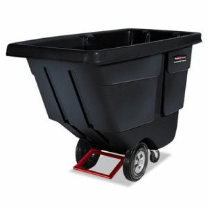 Rubbermaid 1314 Tilt Truck, Utility Duty (Rotational Molded), Blk (RCP 1314 BLA)