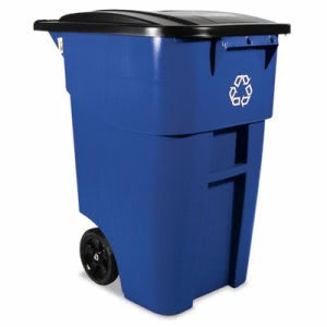 Rubbermaid 9W27-73 Brute 50 Gallon Recycling Rollout Container (RCP 9W27-73 BLU)