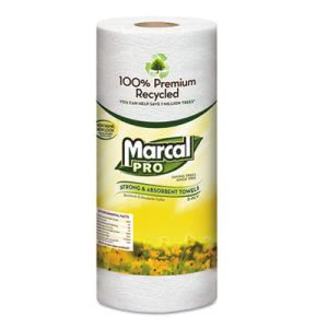 Marcal Sunrise Premium Recycled Kitchen Paper Towels, 15 Rolls (MRC610)