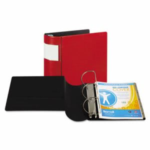 "Samsill DXL Locking D-Ring Binder w/ Label Holder, 5"" Capacity, Red (SAM17603)"