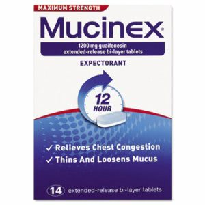 Mucinex Max Strength Expectorant, 14 Tablets per Bottle (RAC02314)