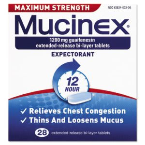Mucinex Max Strength Expectorant, 28 Tablets per Bottle (RAC02328)