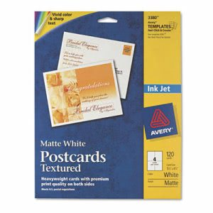 Avery Printable Textured Postcards, Heavy, 4-1/4 x 5-1/2, 120/Box (AVE03380)