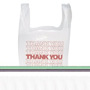 Inteplast Thank You Handled Bags, 11.5x21, Polyethylene, 900 bags (IBSTHW1VAL)