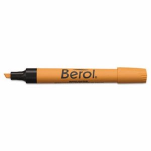 Berol 4009 Highlighter, Chisel Tip, Fluorescent Orange (SAN64325)