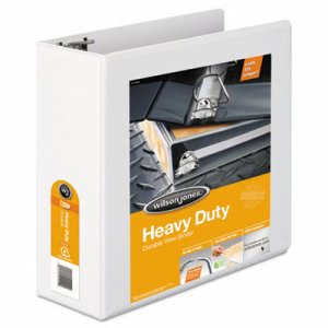 "Wilson Jones Heavy-Duty D-Ring Vinyl View Binder, 4"" Capacity, White (WLJ38554W)"