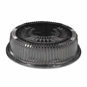 Clear 12 Inch Dome Lids for Round Serving Tray, 25 Lids (HFA 4012DL)