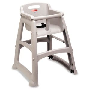Rubbermaid 780508 Sturdy Chair Youth Seat with Wheels (RCP780508PLA)