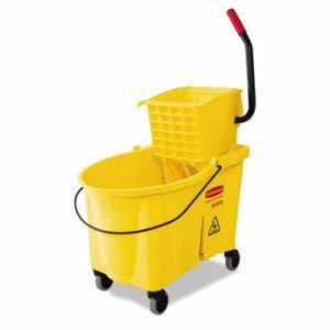 Rubbermaid 618688 WaveBrake 44 Qt Mop Bucket/Wringer Combo, Yellow (RCP618688YW)