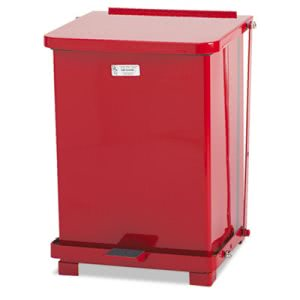 Rubbermaid ST7EPL Defenders Biohazard Step Can, 7 Gallon, Red (RCPST7EPLRED)