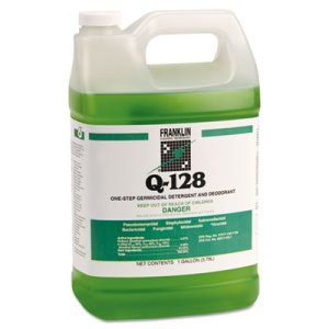 Franklin Q-128 Germicidal Detergent, Pine Forest Scent, 4 Gallons (FKLF248022)