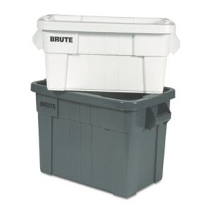 Rubbermaid Commercial Brute Tote Box, 20gal, Gray, 6/Carton (RCP9S31GRACT)