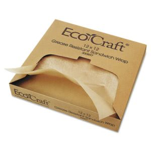 12 x 12 Grease-Resistant Natural Paper Wrap/Liners, 5,000 Sheets (BGC 300897)