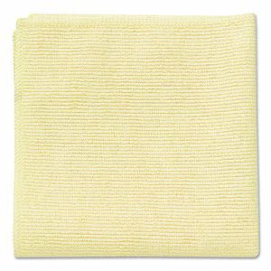 Rubbermaid Microfiber Cleaning Cloths, 16 x 16, Yellow, 24 Cloths (RCP1820584)