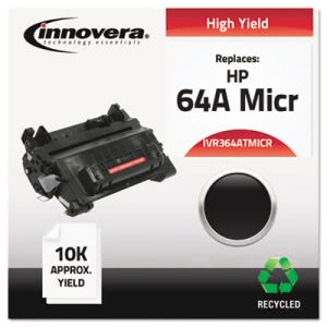 Innovera Remanufactured CC364A MICR Toner, 10000 Yield, Black (IVR364ATMICR)