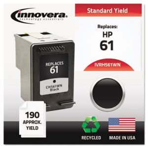 Innovera Compatible Remanufactured CH561WN (61) Ink, Black (IVRH561WN)